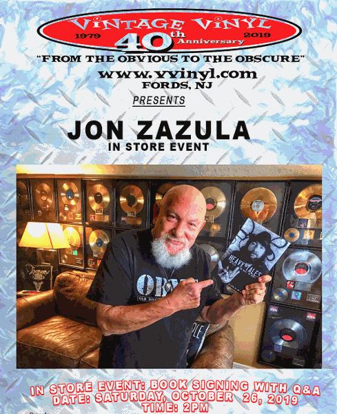 Vintage Vinyl Records Hosts Jon Zazula For Heavy Tales